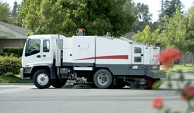 Street Sweeper Full Stock Images