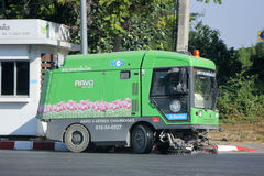 Street sweeper machine. CHIANGMAI, THAILAND - DECEMBER 27 2014:  Street sweeper machine of ChiangMai Municipality.Chiangmai, thailand Royalty Free Stock Photo