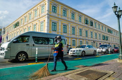 Street Sweeper. In one day at Bangkok Thailand Stock Images