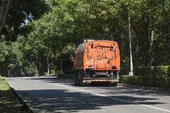 Street sweeper on road in Pyatigorsk, Russia Royalty Free Stock Photography