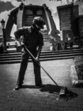 The Street Sweeper Statue. royalty free stock photography