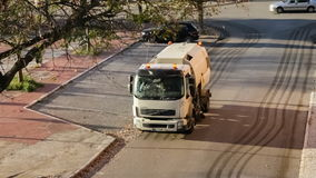A street sweeper or street cleaner stock video footage