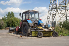 Street sweeper tractor Royalty Free Stock Photos