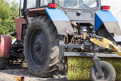 Street sweeper tractor Royalty Free Stock Images