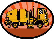Street sweeper truck Royalty Free Stock Photography