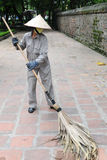 Street sweeper ,  Vietnam Royalty Free Stock Image