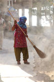 Street Sweeper Woman Royalty Free Stock Images