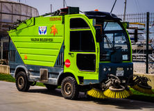Street Sweeper Of Yalova Municipality Royalty Free Stock Images