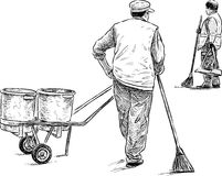 Street sweepers Royalty Free Stock Images