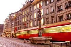Street in Swiss capital Bern royalty free stock photos