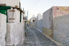 A street in Syros island, Greece Stock Image
