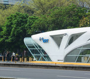 Street in Taichung city, Taiwan. View of BRT station in Taichung city, Taiwan stock photography