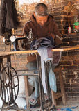 Street tailor  in Bhaktapur, Kathmandu , Nepal Stock Images