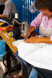 Street Tailor Woman Bangkok Angled Royalty Free Stock Photo