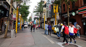 Street in Taipei, Taiwan. People walk on Ximen street in Taipei, Taiwan Royalty Free Stock Photos