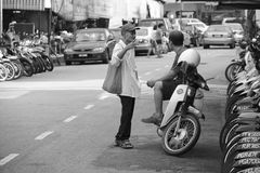 Street talk at Penang Royalty Free Stock Photo