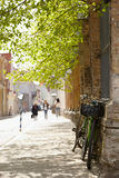 Street in Tallinn at spring. Royalty Free Stock Photography