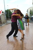 Street-tango in Monza on May 14, 2017. Street-tango image, meeting of tango dancers, held in monza, Italy, on May 14, 2017 Stock Photo