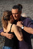 Street-tango in Monza on May 14, 2017. Street-tango image, meeting of tango dancers, held in monza, Italy, on May 14, 2017 Royalty Free Stock Images