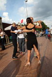 Street-tango in Monza on May 14, 2017. Street-tango image, meeting of tango dancers, held in monza, Italy, on May 14, 2017 Stock Photography