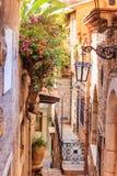 Street of Taormina city royalty free stock image
