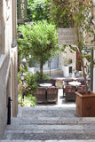 Street in Taormina, Sicily royalty free stock images