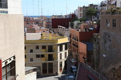 Street in Tarragona, Spain Royalty Free Stock Images