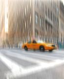 Street taxi life at Manhattan, NYC Royalty Free Stock Photos