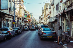 Street in Tel Aviv Royalty Free Stock Images