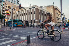 Street in Tel Aviv Royalty Free Stock Photo