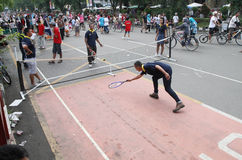 Street tennis Stock Photography