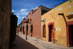 Street at Tequisquiapan, Mexico. Stock Photography