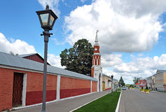 Street in territory of Kolomna Kremlin Stock Images