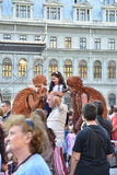 Street theater on B-FIT in The Street Bucharest 2015 Royalty Free Stock Photos