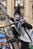 Street theater on B-FIT in The Street Bucharest 2015 Royalty Free Stock Photo