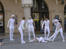 Street Theater festival in Krakow Stock Image