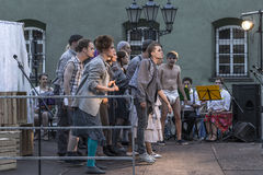 Street Theater festival in Krakow Stock Image