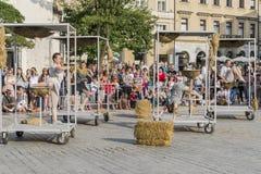 Street Theater festival in Krakow Stock Images