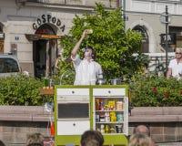 Street Theater festival in Krakow Stock Photos