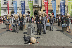 Street Theater festival in Krakow Royalty Free Stock Photos