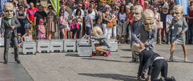 Street Theater festival in Krakow royalty free stock photography