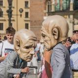 Street Theater festival in Krakow royalty free stock images