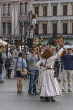 Street Theater festival in Krakow Royalty Free Stock Images