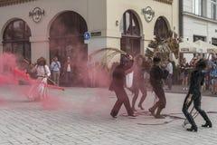 Street Theater festival in Krakow Royalty Free Stock Photo
