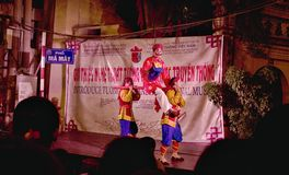 Street theater of Hanoi. Classical street theater in Hanoi, Vietnam Royalty Free Stock Image