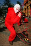 Street theatre. open street costumed performance of young actors. Stock Photography