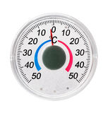 The street thermometer on the white royalty free stock photography
