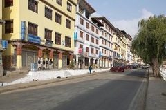 Street in Thimphu, Bhutan Stock Images