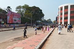 On the street in Thiruvananthapuram Royalty Free Stock Photos