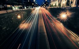 Street timelaps Royalty Free Stock Images